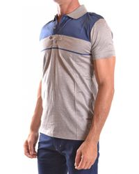 CoSTUME NATIONAL - Men's Mcbi074062o Grey Cotton Polo Shirt - Lyst