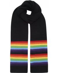 Madeleine Thompson - Batuu Scarf In Black/rainbow - Lyst