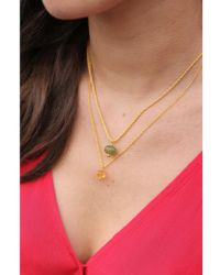 Mirabelle - Carved Pendant Necklace - Lyst