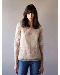 INTROPIA - Tuille Top With Ivory Embroidery - Lyst