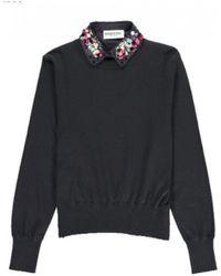 Essentiel - Porto Mock Embellished Shirt Sweater - Lyst