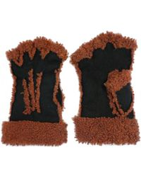 Maison Fabre - Larzac Sheepskin Leather Mittens Gloves - Lyst