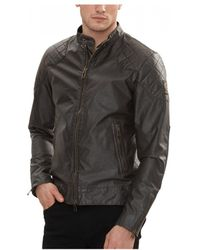 8e2e3a9024 Belstaff Outlaw Waxed Cotton-blend Blouson Jacket in Black for Men ...