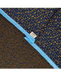 POM Amsterdam - Small Leopard Blue Scarf - Lyst