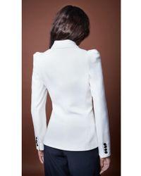 Smythe - Box Pleat Blazer In White - Lyst