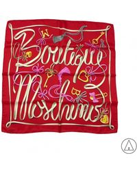 Boutique Moschino - Printed Scarf In Red - Lyst