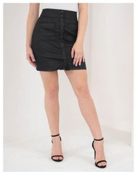 Replay - High Rise Buttoned A-line Skirt - Lyst
