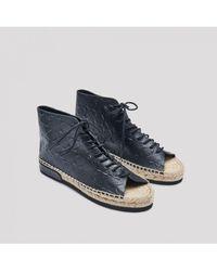 Miista - Imogen Charcoal Tile Sandals - Lyst
