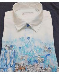 Poggianti - Campania Shirt In Mediterranean Village Inspired Print - Lyst