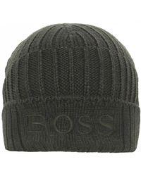 303a7e1177e BOSS Orange - Virgin Wool Blend Fenno Beanie Hat - Lyst