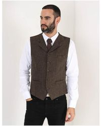 Gibson - Muted Check Waistcoat - Lyst