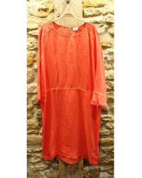Hartford - Risoli Linen Dress In Flame - Lyst