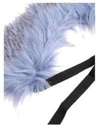 L'Autre Chose - Fur Collar In Blue - Lyst