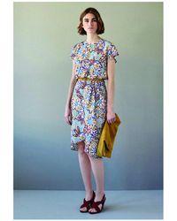 INTROPIA - Graphic Print Silk Dress - Lyst
