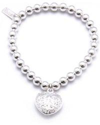 ChloBo - Small Ball Bracelet With All My Love Heart Charm - Lyst