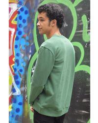Lee Jeans - New Army Green Crew Sweatshirt - Lyst