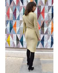Numph - Grizelda Gold Jersey Dress - Lyst