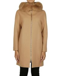 Herno - Coat In Beige - Lyst