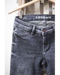 Denham - Grey Denim Spray Super Tight Fit Jeans - Lyst