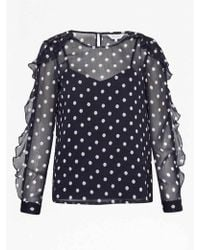 Great Plains - Dot Mix Top In Midnight Combo - Lyst