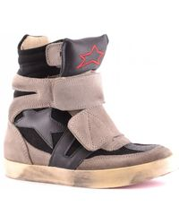 255bf0c67e66 DKNY Active Grommet Billboard Wedge Trainers in Gray - Lyst