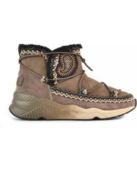Ash - Mitsouko Etnic Embroidered Topo Suede Boots - Lyst