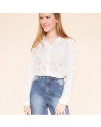 Suncoo - Blouse Lucien Broderie White - Lyst