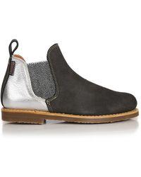 Penelope Chilvers - Women's Safari Metallic Patchwork Short Chelsea Boots - Lyst