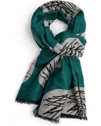 Atterley - Pure Ada Green Tree Scarf - Lyst