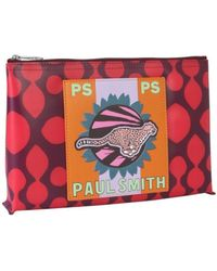 PS by Paul Smith Cheetah Print Pouch - Red