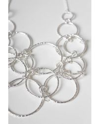 Atterley - Silver Textured Link Necklace - Lyst