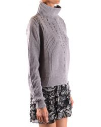 Pinko - Turtle Neck In Grey - Lyst