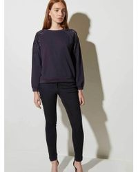 Great Plains - Winter Embroided Top In Midnight - Lyst