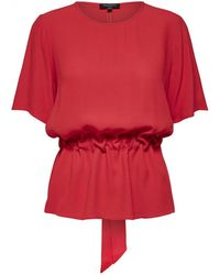 SELECTED - Tanna Top In Red - Lyst