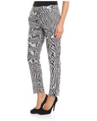Trussardi - Printed Trousers In White - Lyst