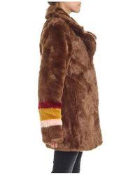 Pinko - Short Fur Coat In Brown - Lyst