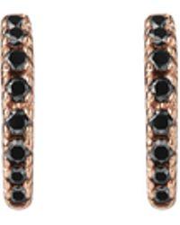 AUrate New York - Huggie Earrings With Black Diamonds - Lyst