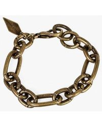 Nicole Romano - Bronze Chain Link Bracelet - Lyst