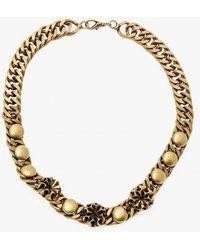 Nicole Romano - Button Stud Chain Necklace - Lyst