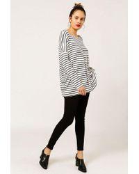Azalea - Striped Dolman Sleeve Top - Lyst
