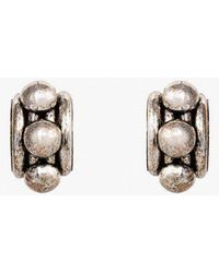 Nicole Romano | Arched Tube & Dome Earrings P | Lyst