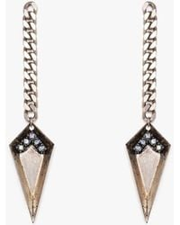 Nicole Romano - Spear & Chain Drop Earring P - Lyst