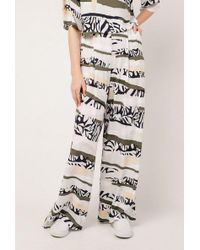 Native Youth - Tropi Camo Wide Leg Pant - Lyst