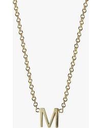 Lumo - Initial Necklace - Lyst
