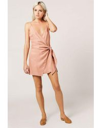 Azalea - Side Tie Mini Dress - Lyst