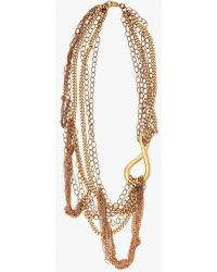 Nicole Romano - Twisted Loop And Dropped Chain Necklace - Lyst