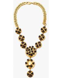 Nicole Romano - Multi Dome Black Triangle Necklace - Lyst