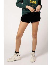 Azalea - Velour Shorts - Lyst
