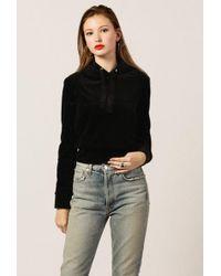 Azalea - Velour Cropped Sweater - Lyst