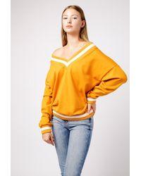 Azalea - Varsity V Neck Sweatshirt - Lyst